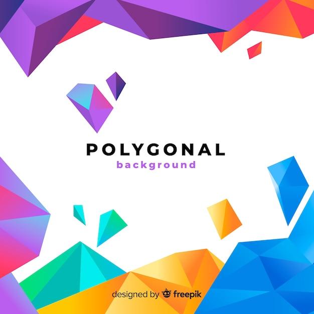 Abstrakter hintergrund mit polygonalen formen Kostenlosen Vektoren