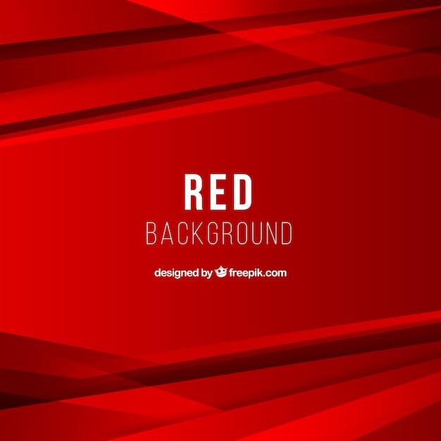 Abstrakter hintergrund mit roten formen Kostenlosen Vektoren