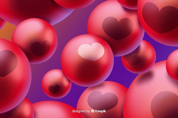 Abstrakter hintergrund mit roten luftblasen Premium Vektoren