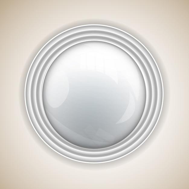 Abstrakter hintergrund mit rundem knopf für design Kostenlosen Vektoren