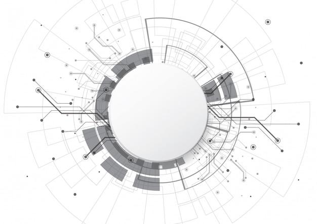 Abstrakter hintergrund mit technologieleiterplattebeschaffenheit Premium Vektoren