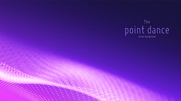 Abstrakter hintergrund mit violetter teilchenwelle Kostenlosen Vektoren