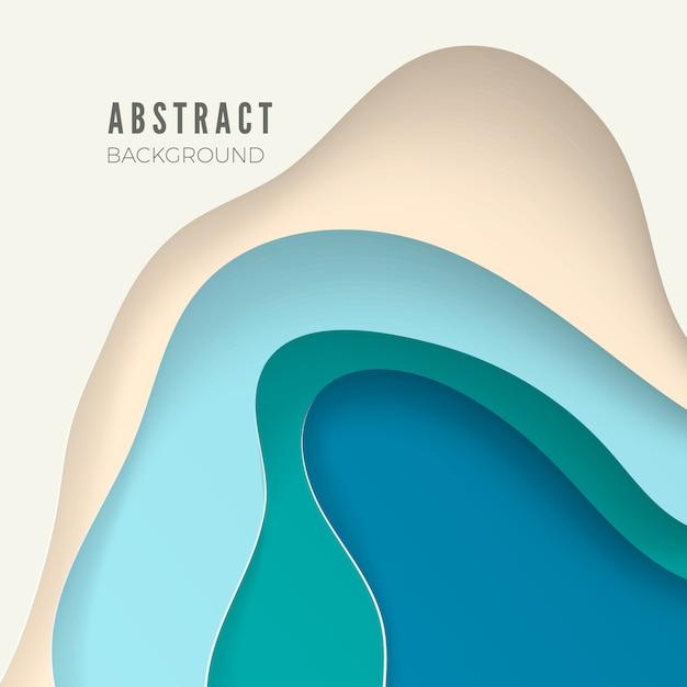 Abstrakter hintergrund mit weißen papierschnittformen. layout für geschäftspräsentationen, flyer, poster. illustration Premium Vektoren