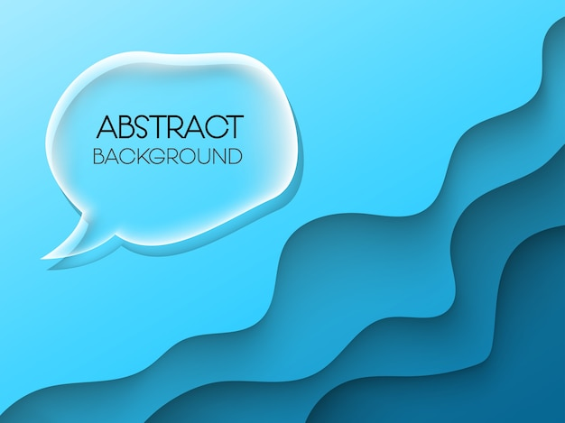 Abstrakter hintergrund papercut mit buntem Premium Vektoren