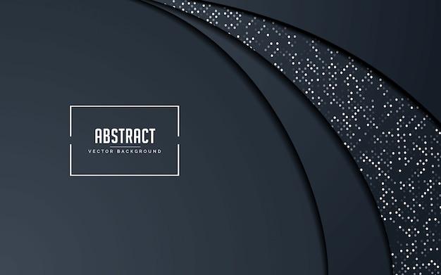 Abstrakter hintergrund schwarz und grau mit funkelnsilber Premium Vektoren