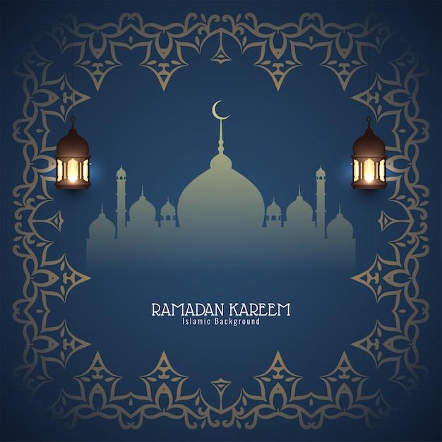 Abstrakter islamischer hintergrund des ramadan kareem Kostenlosen Vektoren