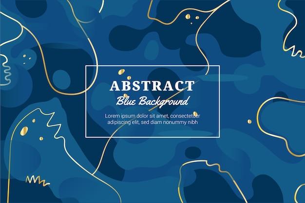 Abstrakter klassischer blauer hintergrund mit goldenen linien Kostenlosen Vektoren