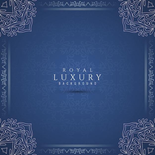 Abstrakter königlicher künstlerischer blauer luxuxhintergrund Kostenlosen Vektoren