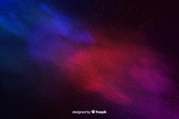 Abstrakter kosmischer hintergrund mit sternen Kostenlosen Vektoren
