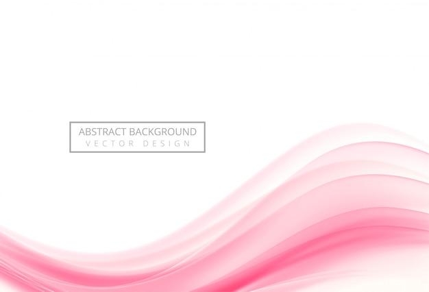Abstrakter kreativer rosa wellenhintergrund Kostenlosen Vektoren