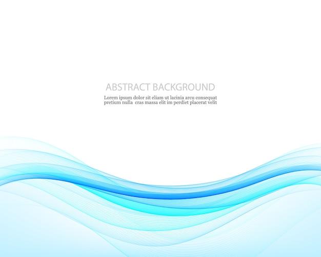 Abstrakter kreativitätshintergrund der blauen wellen, illustration Premium Vektoren