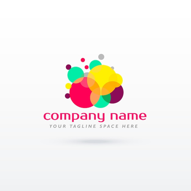 abstrakter Kreis bunte Logo Konzept Design Kostenlose Vektoren