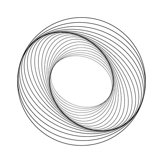 Abstrakter kreisförmiger geometrischer elementvektor Kostenlosen Vektoren