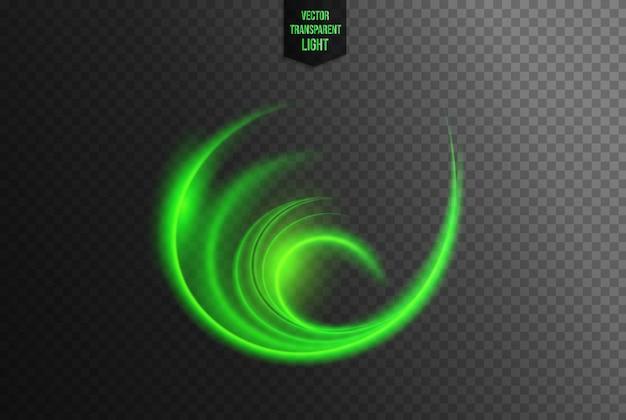 Abstrakter kreisförmiger lichteffekt Premium Vektoren