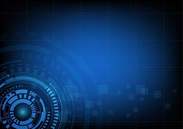 Abstrakter kreistechnologiehintergrund Premium Vektoren