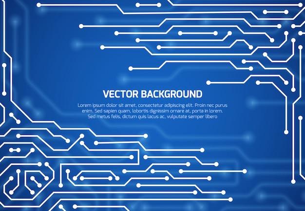 Abstrakter kybernetischer vektorhintergrund mit schaltungseinstieg Premium Vektoren