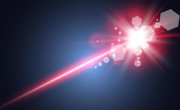 Abstrakter laserstrahl. Premium Vektoren