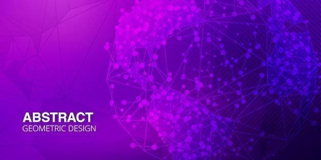 Abstrakter lila hintergrund mit polygonalen formen Premium Vektoren