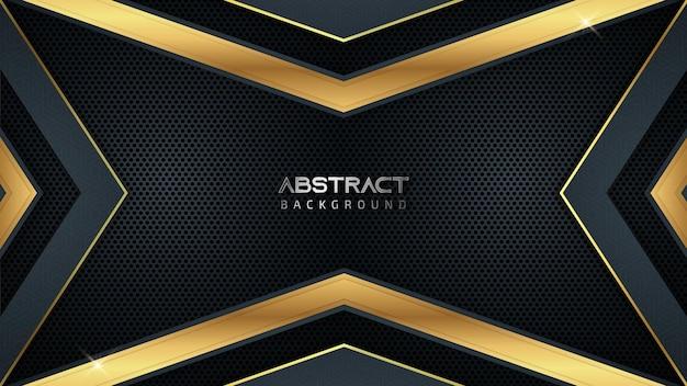 Abstrakter luxus-spielhintergrund mit goldenen linien und kopierraum für text Premium Vektoren