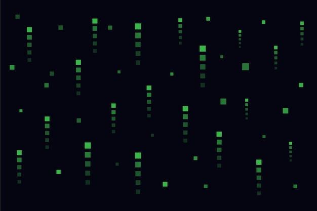 Abstrakter matrixpixel-regenhintergrund Kostenlosen Vektoren