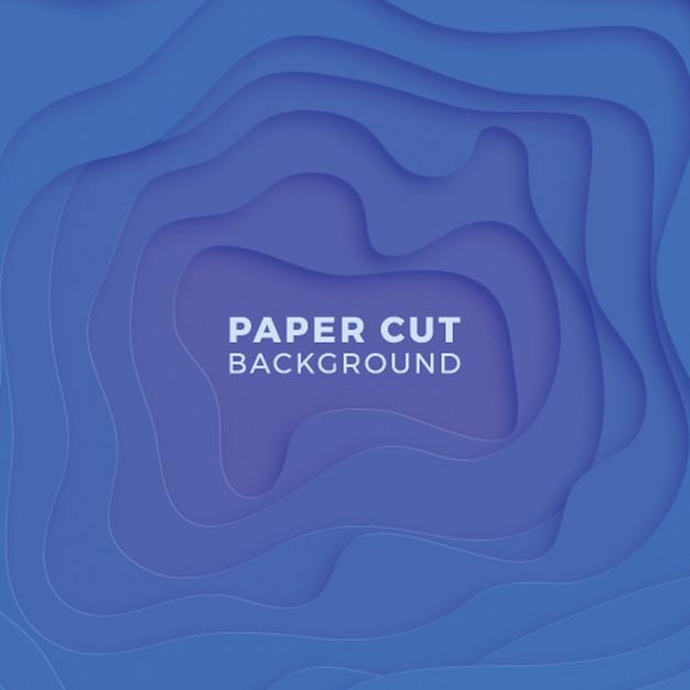 Abstrakter mehrfarbenhintergrund mit realistischen papierschnittschichten Premium Vektoren