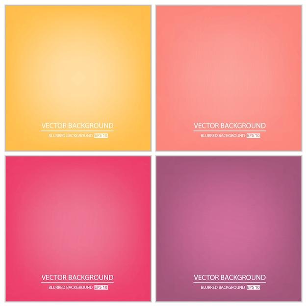 Abstrakter mehrfarbiger steigungshintergrundsatz. Premium Vektoren