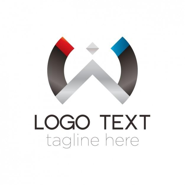 Abstrakter metallhalbkreis logo Kostenlosen Vektoren