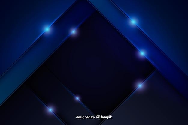 Abstrakter metallischer blauer hintergrund Kostenlosen Vektoren