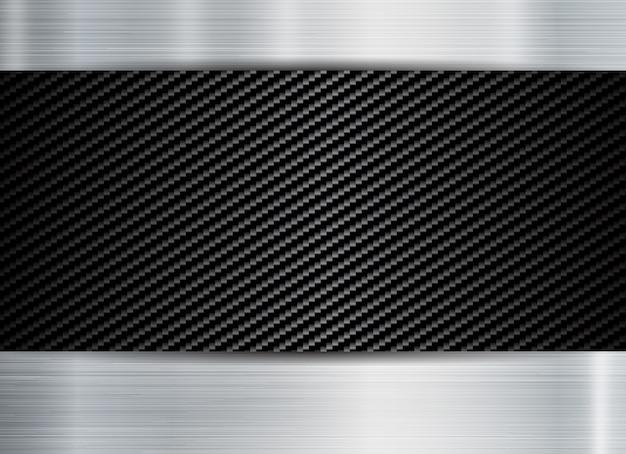 Abstrakter metallischer rahmen Premium Vektoren