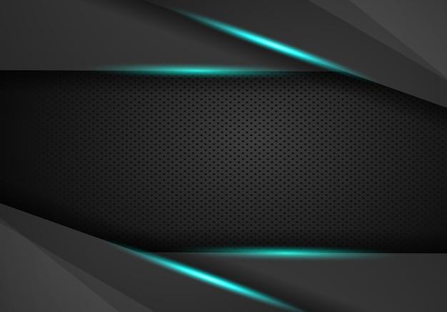 Abstrakter metallischer rahmenplan des blauen schwarzen Premium Vektoren