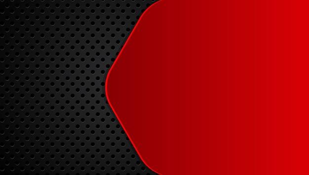 Abstrakter metallischer roter schwarzer hintergrund mit kontraststreifen. Premium Vektoren