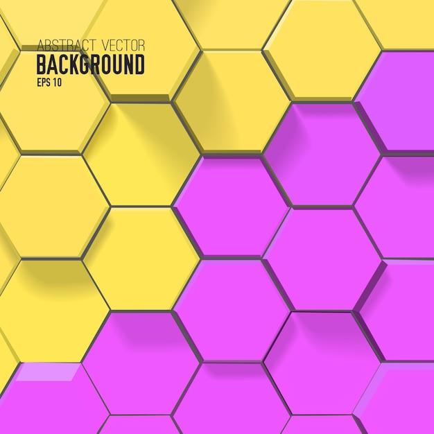 Abstrakter mosaikhintergrund mit bunten verbundenen sechsecken Kostenlosen Vektoren