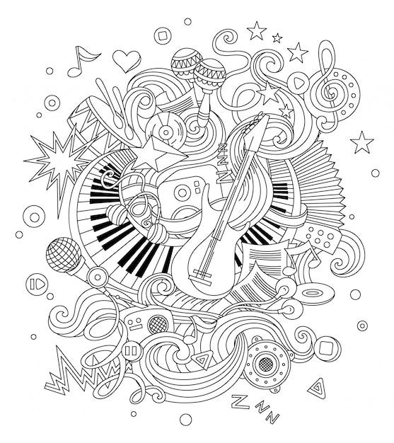 Abstrakter musikhintergrund Premium Vektoren