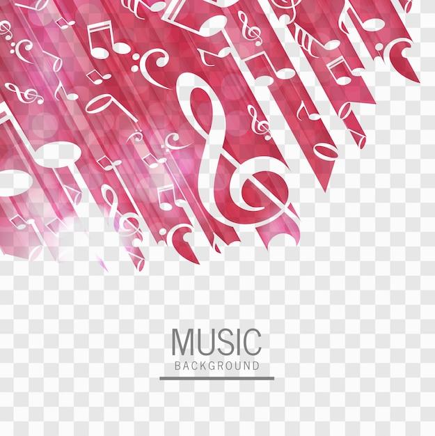 Abstrakter musikhintergrundvektor Kostenlosen Vektoren