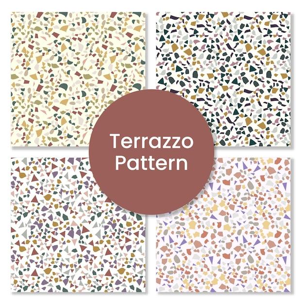 Abstrakter nahtloser terrazzomusterhintergrund, Premium Vektoren