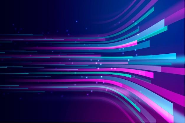 Abstrakter neonlichthintergrund Premium Vektoren