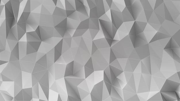 Abstrakter niedriger polygonaler hintergrund des graus 3d. Premium Vektoren