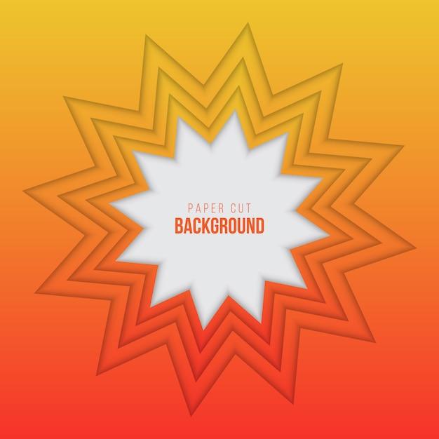 Abstrakter orange papierschnitthintergrund Premium Vektoren