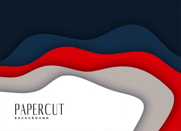 Abstrakter papercut überlagerte hintergrunddesign Kostenlosen Vektoren