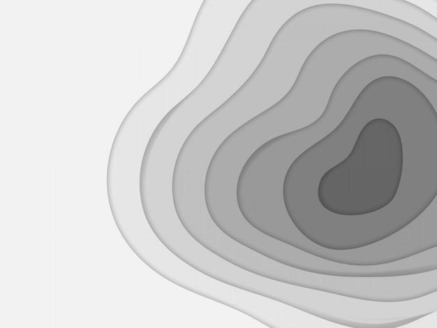Abstrakter papierschnitt-kunsthintergrund Premium Vektoren