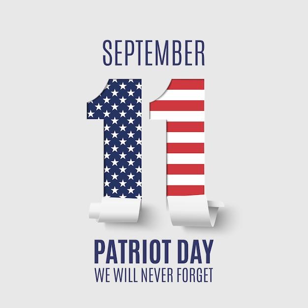 Abstrakter patriot day hintergrund. 11. september, nationaler gedenktag. Premium Vektoren