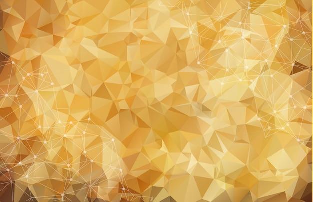 Abstrakter polygonaler brown-hintergrund. Premium Vektoren