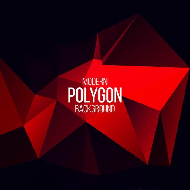 Abstrakter polygonaler geometrischer vektorhintergrund Kostenlosen Vektoren