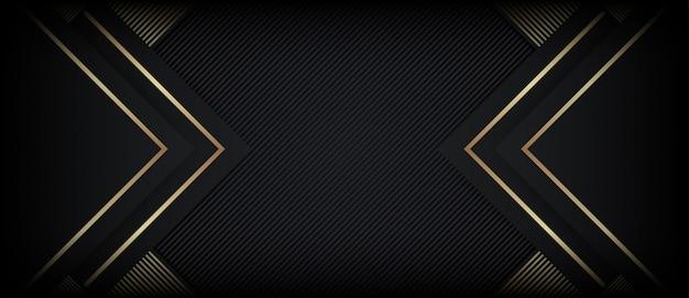 Abstrakter polygonaler luxushintergrund mit goldenen formen Premium Vektoren