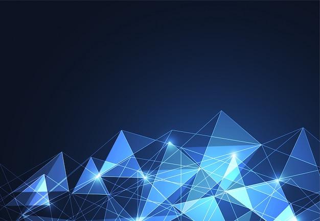 Abstrakter polygonaler platz-hintergrund Premium Vektoren