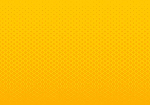 Abstrakter quadrat-musterhintergrund der steigung gelber Premium Vektoren
