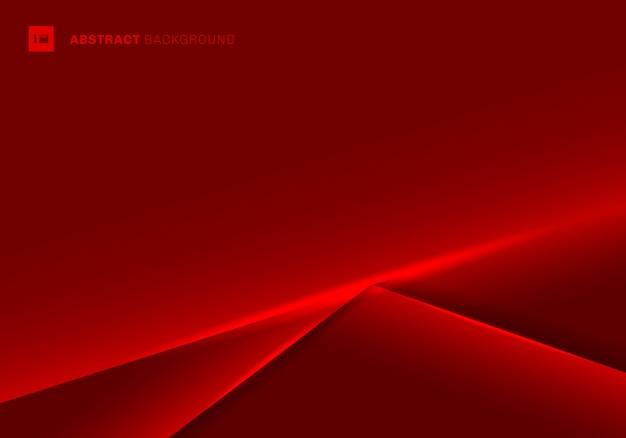 Abstrakter rahmenhintergrund der schablone roter Premium Vektoren