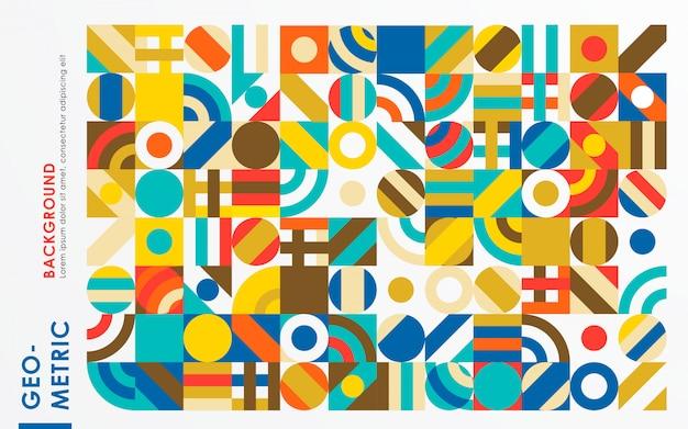 Abstrakter retro- geometrischer formhintergrund Premium Vektoren
