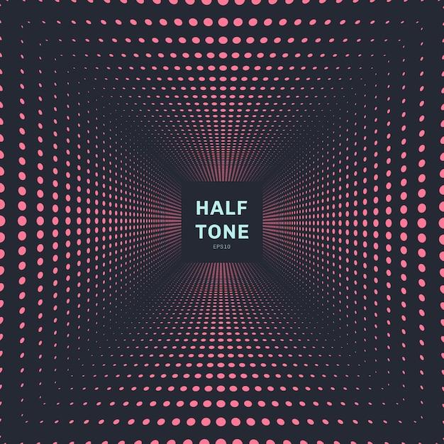 Abstrakter rosa farbhalbtonperspektivenhintergrund Premium Vektoren