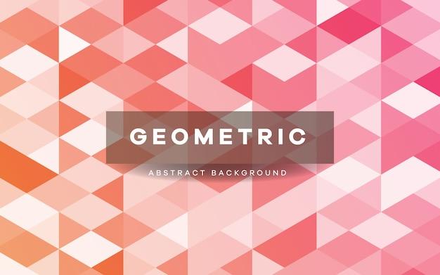 Abstrakter rosa geometrischer formenhintergrund Premium Vektoren
